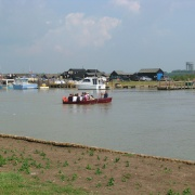 Ferry crossing the River Blyth between Walberswick and Southwold.