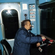 Me driving a D stock train.