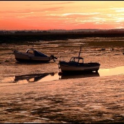 Low evening tide on the River Blackwater at Steeple