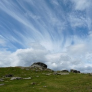 Big sky over Haytor