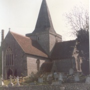 St Andrews Church, Alfriston, East Sussex 1986