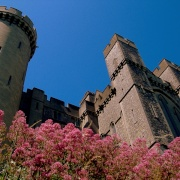 Arundel Castle walls in colour