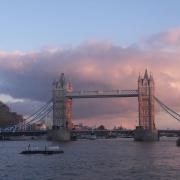 Tower Bridge sunset, winter