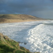 White water at Woolacombe