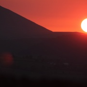 Sunset over Pendle