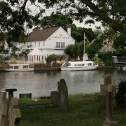 The Compleat Angler seen from All Saints Churchyard