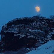 Helsby Hill with moonlight