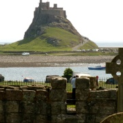 Lindisfarne Castle from Priory