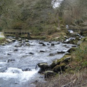 Watersmeet in Exmoor National Park, North Devon.