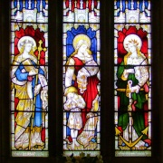 Stainglass window, St Faith, Llanfoist