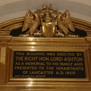 Commemorative plaque in the Ashton Memorial