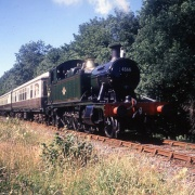 4566 on a Bronwydd bound passenger train; Gwili Railway