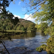 The River Wharfe south of Grassington in the Yorkshire Dales