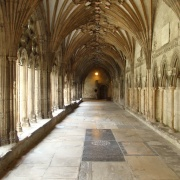 A cloister of the Cathedral, Canterbury