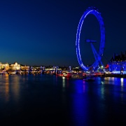 Thames night view, London