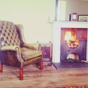 Roaring open fires in the Lounge