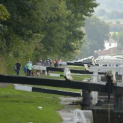 Caen Lock Flight on the Kennet & Avon Canal, Devizes, Wiltshire