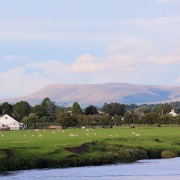Pendle hill from ribchester