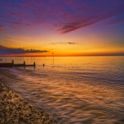 Twilight at Whitstable Beach