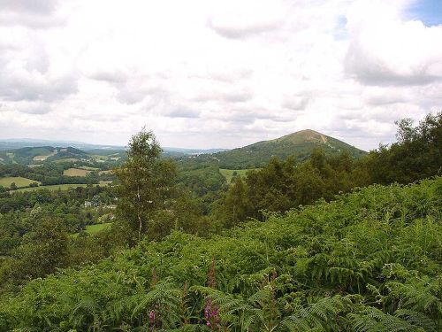 Walking the Malvern Hills. The Worcestershire Beacon in the background