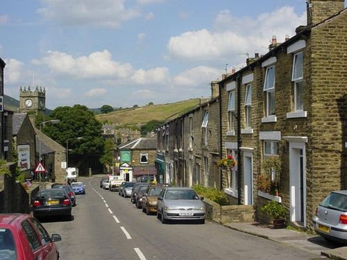 Hayfield village in the Peak District, Derbyshire