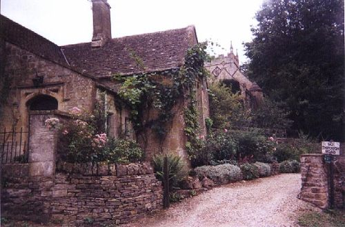 The village of Upper Slaughter in the Cotswolds