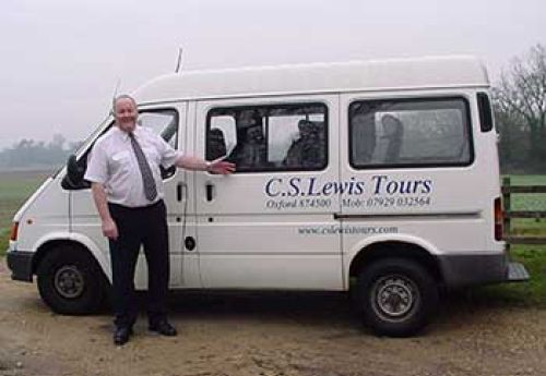 The CS Lewis Tour Bus and Ron Brind your tour guide