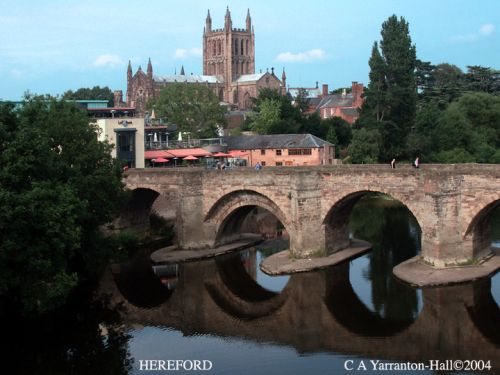 Hereford Old Bridge + Cathedral