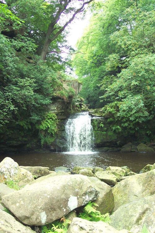 Foss Waterfall, Beck Hole, Goathland, North Yorkshire Moors.