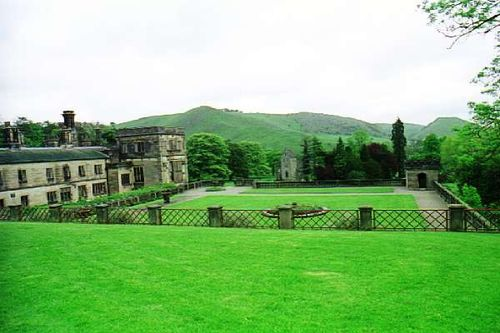 Ilam Hall. Thorpe Cloud from Ilam