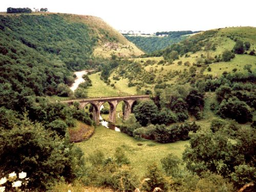 View from Monsal Head, near Bakewell, Derbyshire 1988