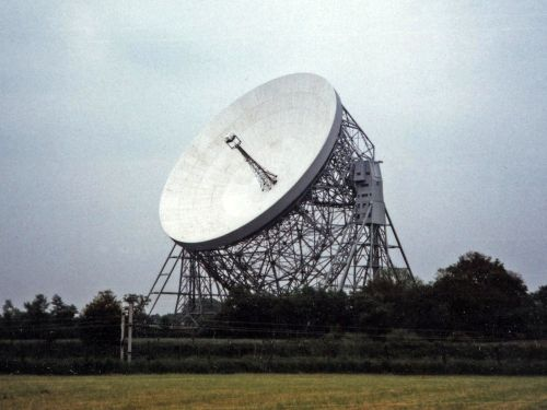 Lovell telescope: scan of an old 6x4 print