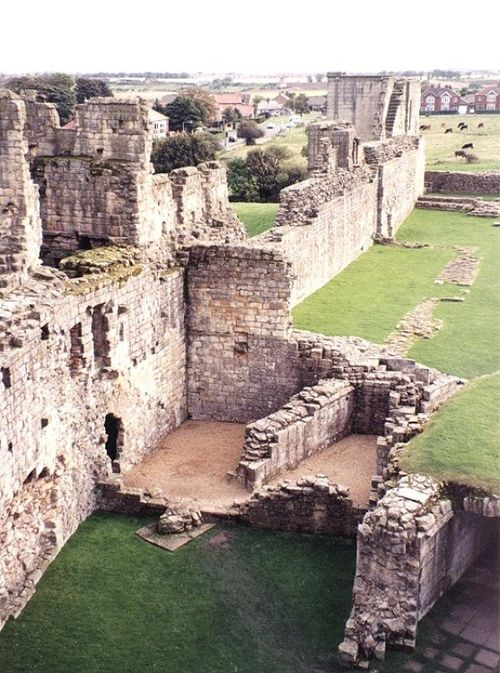 Ruins of the Warkworth Castle Walls, Northumberland