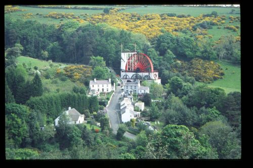 Laxey Wheel from the Snaefell Mountain Railway