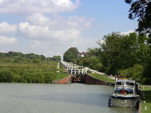 Caen Hill Lock Flight, Devizes, Wilsthire. Summer 2004