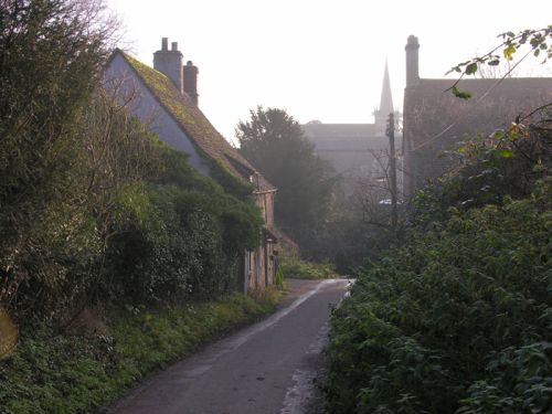 Down to Lacock Ford, Lacock, Wiltshire. Autumn 2004