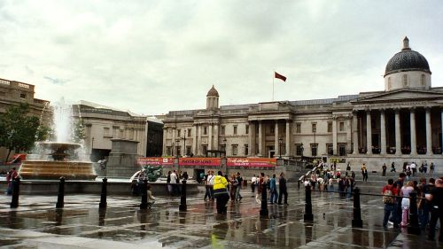 Trafalgar Square After the Rain