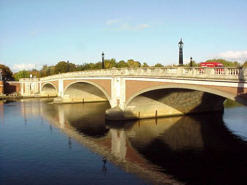 Hampton Court Way Bridge (Hampton Court Palace is just across the river to the right)