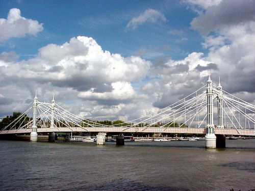 Albert Bridge - Spanning The Thames Between Chelsea and Battersea