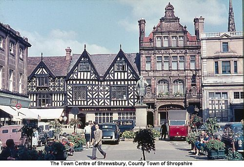 Town Centre of Shrewsbury, County Town of Shropshire
