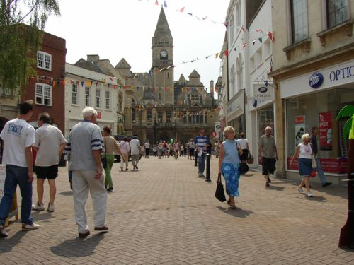 Shopping Centre, Trowbridge, Wiltshire. Summer 2004