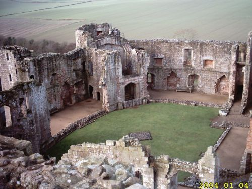Raglan Castle, Usk, Monmouthshire, Wales