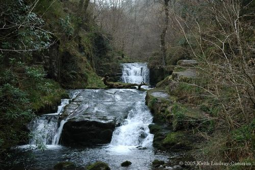 Waterfalls at Watersmeet, Lynton, Exmoor.