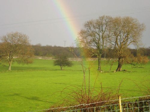 Rainbow over Wartbarrow, Allithwaite, Cumbria