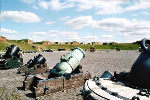 Parade Ground and Mortars at Fort Nelson, Fareham.