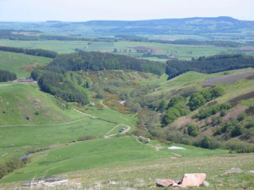 From the Cheviots, Northumberland, looking down into Happy Valley