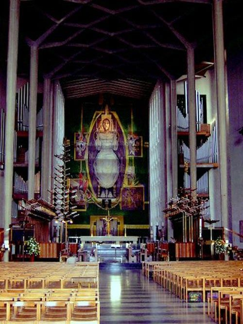 Coventry Cathedral Alter tapestry of Christ in Glory