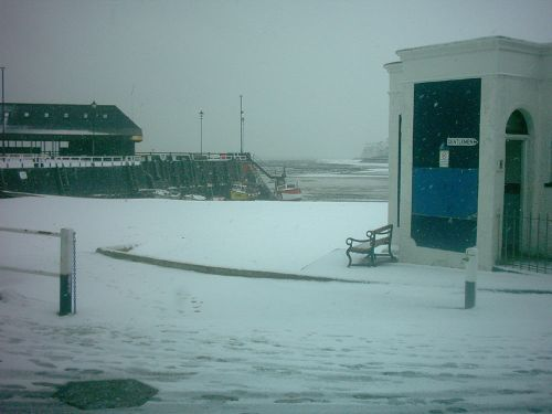 A snowy Broadstairs Harbour, Kent