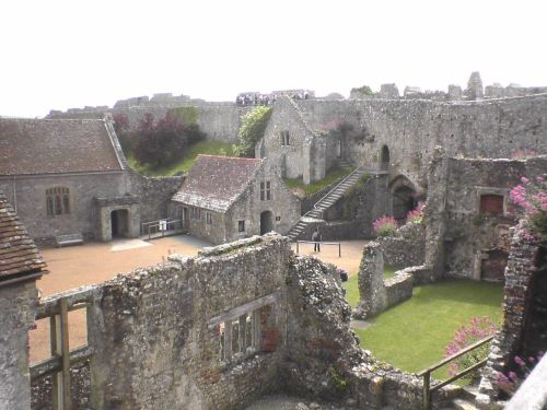 Carisbrooke Castle in Newport of the Isle of Wight