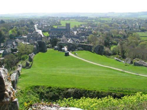 Corfe Town from the Castle